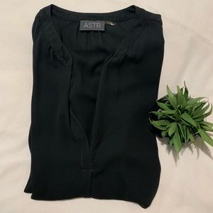 ASTR black v neck blouse